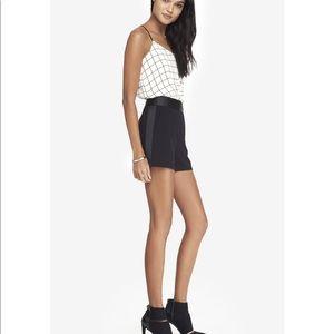 Express Black Tuxedo Shorts